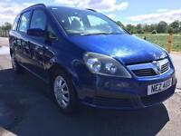 SALE! Bargain Vauxhall zafira 7 seater, full years MOT ready to go