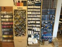Haberdashery job lot stands & stock