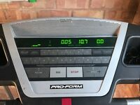Pro form 665 e treadmill, 6 years old, 110v but transformer comes with treadmill. Needs some tlc