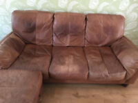 Sofa for sale, brown leather.