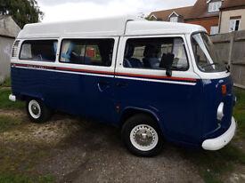 Low Mileage Volkswagen T2 Olympic Celebration Edition No.2 Danbury Motor Caravan in Royal Blue