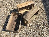 Set of Three Wooden Crates