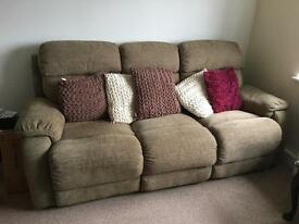 3 Seater recliner electric sofa with electric recliner chair