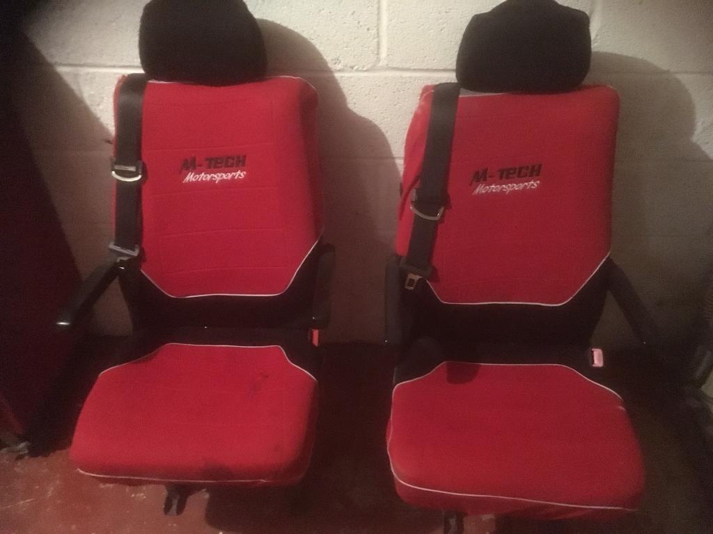 Camper van seats