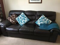 DFS leather sofas - 3 and 2 seaters