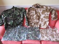 7 British Army Military Camouflage Jackets
