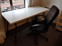 Ikea Desk and Chair (can be sold separately or together, pick up only from City Centre)
