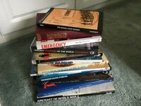 12 Various Military History Books