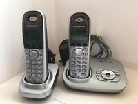 Panasonic Cordless Phone with Voicemail + Extension Phone