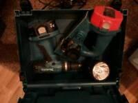 Makita planer, drill and torch set