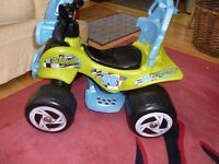 RECHARGEABLE CHILDS QUAD BIKE, SELDOM USED