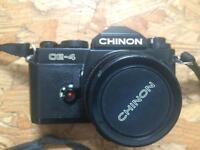 Chinon CE4 manual SLR with 50mm lens&75-250mm macro zoom lens
