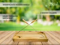 RegalCook - 3in1 Professional Cutting Board with 2 FREE Skewers