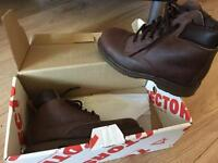 New totectors sturdy boots work smart brown size 5