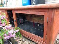 2 good size rabbit hutches