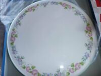 Cake Plate - Vintage Royal Worcester English Garden