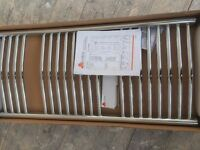 new boxed Curved Chrome radiator/ towel warmer with all fittings 974mm x 450mm bathroom