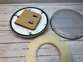 """11"""" round security bulkhead light fitting. NEW"""
