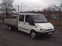 Ford Transit Crew Cab Pick-Up/Flatbed Lorry
