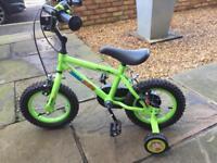 "Marvin The Monkey 12"" wheel bicycle & Matching helmet"