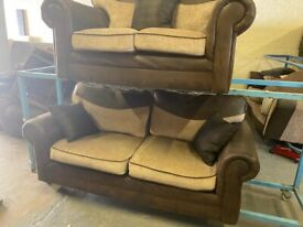 HARVEYS FABRIC SOFA SET IN EXCELLENT CONDITION 2+3 SEAT VERY COMFY CAN DELIVERY
