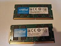 Crucial 32GB (2x16GB) DDR4 SO-DIMM 2666MHz