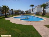 Costa Blanca, Ground floor apt, sleeps 4, English TV, A/C, communal pool from £150 pw (SM010)