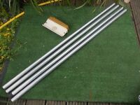 Window cleaning extension rod aluminium with brass fittings