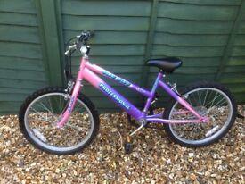 Girls bike approx age 7 up