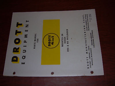 Drott Service Parts Manual H90 Hough Loader Bucket