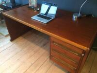 Large vintage retro desk