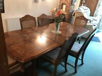 Dining Table and six chair all in very good condition