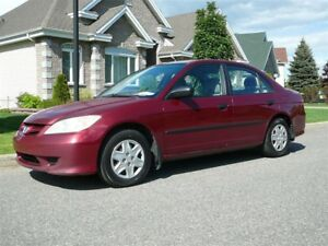 2005 Honda Civic TRÈS PROPRE!!!