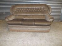 Brown Fabric (not leather) 3-1-1 Suite (Sofa)
