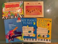 Easy Piano Books for Beginners x 5