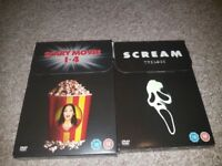 Scary Movie and Scream box sets for sale.