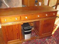 Very solid large pedestal desk