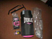 Punch Bag and extras (Pink and black)
