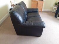 blacl leather sofa