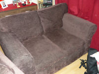 2 seater sofa, chocolate brown Chenille , very good condition. £55 o.v.n.o.