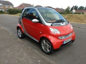 Smart Passion Convertible 2001 with only 49000 miles and 3 months warranty