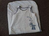 Mothercare sleeping bag 6-18 months baby light blue 2.5 ton