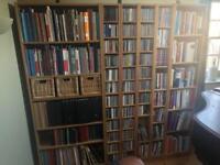Ikea Billy bookcases/Benno CD towers in oak veneer