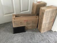 10 X 20 black tiles 3 boxes of
