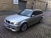 2004 54 BMW 330D M SPORT AUTO 204 BHP *SAT-NAV* *XENONS* *LEATHERS* E46 TOURING ESTATE 530D DIESEL