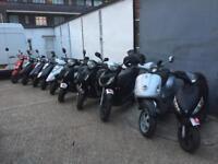 CHEAP BIKES! Honda Piaggio Vespa Yamaha Lexmoto 125 cc 125cc Learner scooter's with MOT