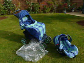 Mothercare push chair and car seat combo