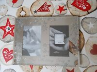 "NEW - BEAUTIFUL MIRRORED ""OUR WEDDING DAY"" PHOTO FRAME"