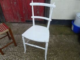 White Chic Kitchen Or Bedroom Chair Delivery Available
