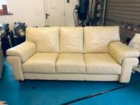Leather suite of furniture. 3 and 2 seater.